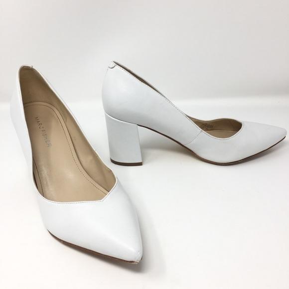 Marc Fisher Genuine Leather Block Heel